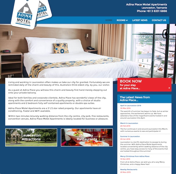 Adina Place Motel Apartments website