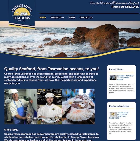 George Town Seafoods website