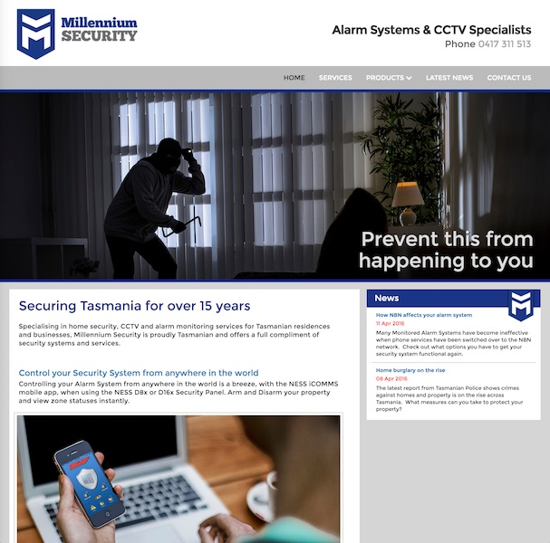 Millennium Security website